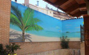 Decoración patio Madrid