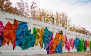 Graffiti plaza en Madrid