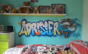 Graffiti dormitorio juvenil