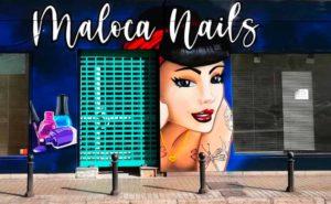 Decoración exterior peluqueria en Madrid