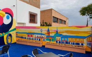 Decoración mural bar de Navalcarnero