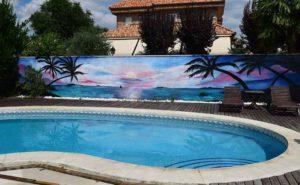 Decoración mural casa en Toledo