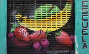 Decoración cierre fruteria
