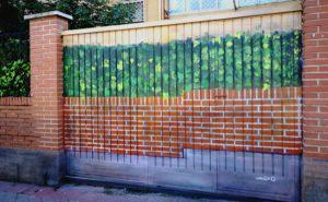 Decoración puerta chalet Madrid