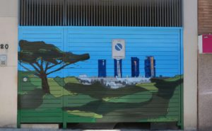 Graffiti puerta garaje Madrid